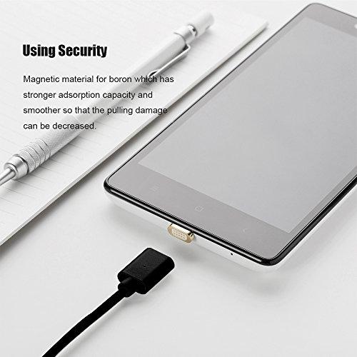 NetDot Gen7 Micro USB Magnetisches Schnelllade & Sync-Kabel Kompatibel mit Android-Gerät (2M / 3 Pack schwarz)