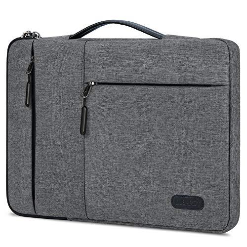Lubardy パソコンバッグ 13.3 14インチ パソコンケース 360°保護 ノートPCケース 耐衝撃 PC バッグ ノートパソコンケース ブラック Macbook Surface Laptop FUJITSU ThinkPad Dell ASUS Acer NEC HP に対応 ライトグレー