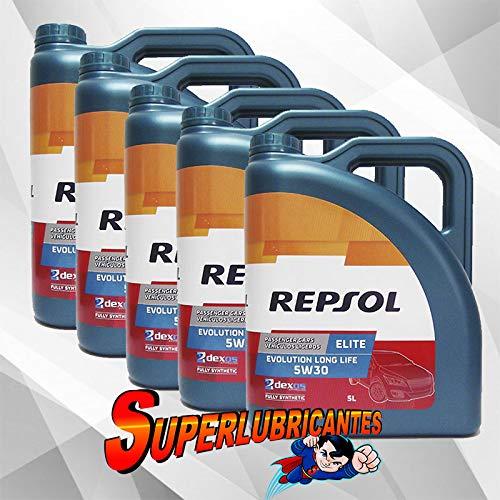 Mundocoche Repsol Elite Evolution Long Life 5W30 5x5L(25Litros)