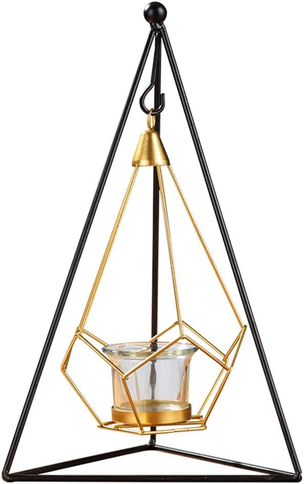 Table Centerpiece Large Metal Large-scale sale Mo Wire Candle Holders,Geometric It is very popular