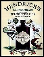 なまけ者雑貨屋 Hendricks Gin アメリカン 雑貨 アンティーク インテリア プレート ブリキ メタル 看板