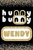 Hunny Bunny Wendy: Cute Gold Glitter Red Velvet Member 100 Page 6 x 9' Blank Lined Notebook Kpop Journal Book Fan Merch for ReVeluv Fandom (Red Velvet Member Hunny Bunny Notebooks)