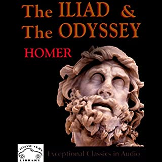 The Iliad & The Odyssey audiobook cover art