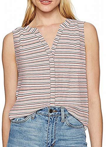 NYDJ Women's Sleeveless Pintuck Blouse, RIC rac Stripe, XS