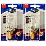 Whirlpool Wpro Pygmy 1000horas Bombilla Horno Lámpara (40W, SES, E14, 2unidades)