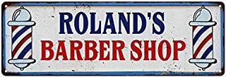 ROLAND'S Barber Shop Hair Salon Vintage Look Metal Sign Chic Retro 8241984