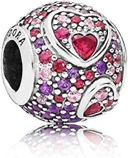 Asymmetric Heart Of Love Red One Size Charm 797826CZRMX