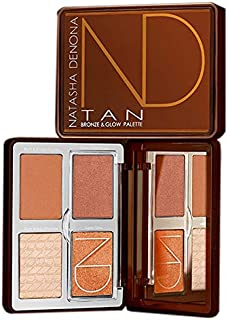 Natasha Denona Tan Bronze & Glow Palette! Ultimate Sunkissed Skin Palette with Four Luminous Shades for Bronzing, Blushing, And Highlighting! Create Unique Glow Effects To Skin!