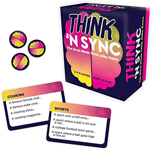 Gamewright Think #039N Sync  The Great Minds Think Alike Game Card Game Multicolor 5quot