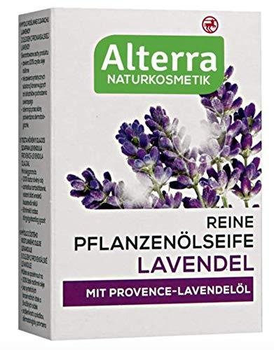 Reine Pflanzenölseife Lavendel, mit Provence-Lavendelöl, Naturkosmetik, vegan, 2er Pack (2 x 100g)