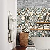 32 piezas Azulejo adhesivo 15x15 cm - PS00205 - Mosaico de Azulejos Adhesivo de pared Adhesivo...