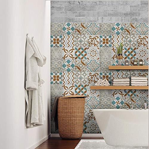 15 (Piezas) Adhesivo para Azulejos 20x20 cm - PS00205 - Panama Adhesivo Decorativo para Azulejos para baño y Cocina Stickers Azulejos