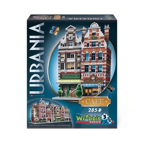 WREBBIT 3D Urbania Collection Café 3D Jigsaw Puzzle (285 Pieces) (W3D-0503)
