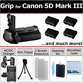 Flex Pistol Tripod Bundle 5DS Pro Camera Battery Grip Replacement for Canon BG-E11 for Canon EOS 5D Mark III 5DS R DSLR Camera 2pc Replacement Battery with Charger