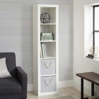 Better Homes and Gardens.. Bookshelf Square Storage Cabinet 4-Cube Organizer (Weathered) (White, 4-Cube) (White, 5-Cube Horizontal/Vertical)
