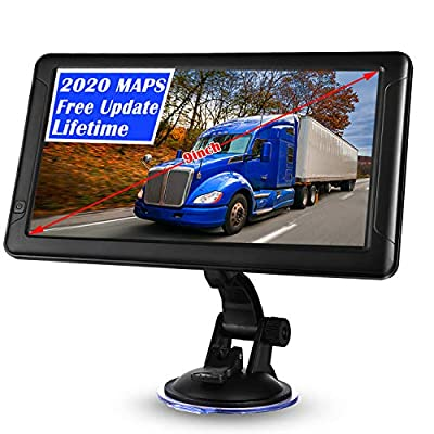 GPS Navigation for Car,9 inch GPS Navigation for Trucks Lorry HGV Caravan,Satnav for Cars with POI Speed Camera Warning,Voice Guidance Lane,Lifetime Map Updates