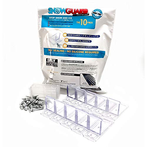 (10 Pack) Snow Guard with Perfect Seal Gasket and Screws Gutter Guards Guard Metal Roof Roofing
