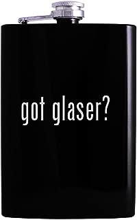 got glaser? - 8oz Hip Alcohol Drinking Flask, Black
