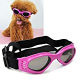 Z-YQL Dog Goggles Doggie Sunglasses, UV Protective Puppy Windproof Eyewear Adjustable Glasses for Small Medium Pets Dogs (Pink)