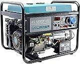Générateur à essence KS 10000E ATS, puissance maximale 8000W, ATS intégré, démarrage manuel / électro / automatique, prises 1x16A, 1x32A (230V), EURO-V, AVR, affichage LED, enroulement 100% cuivre.