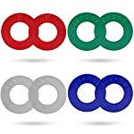 44SPORT Olympic Fractional Plates -Pair of 1/4, 1/2, 3/4, 1 lb Weights (8 Plates. Total Weight: 5lbs)