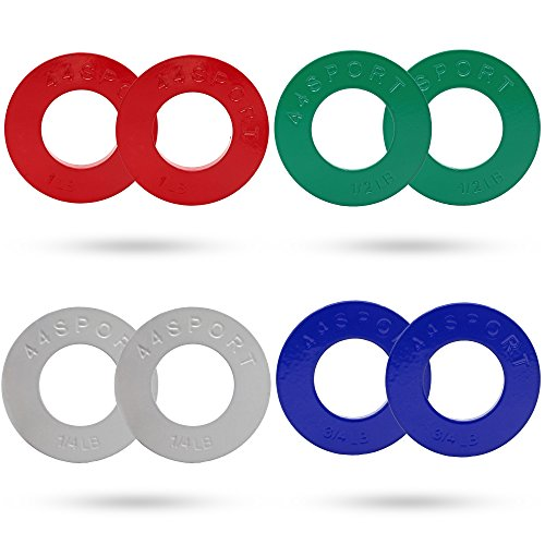 44SPORT Olympic Fractional Plates -Pair of 1/4, 1/2, 3/4, 1 lb Weights...