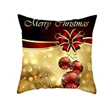 "Merry Christmas Throw Pillow Covers Cushion Cases Xmas Snowflake Letter Decorative Snowman Pillowcases for Couch,18""x18"""