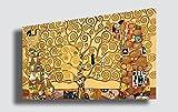 Quadro GUSTAV KLIMT Albero della Vita 2 - RIPRODUZIONE STAMPA SU TELA Quadri Moderni Moderno Arte Astratto Cucina Soggiorno Camera da letto printerland.it (70x100 cm)