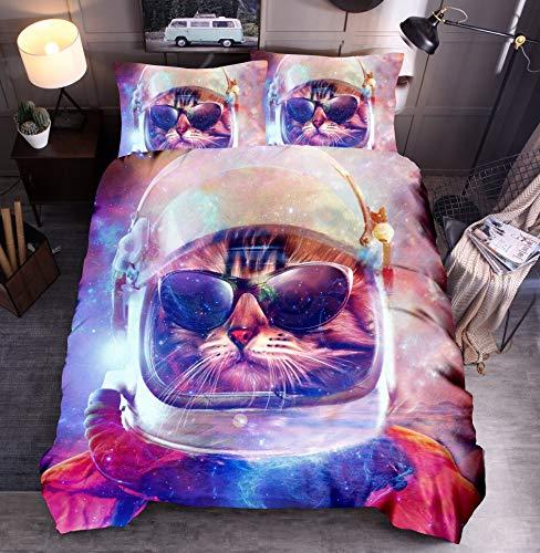 KJHYUI Juego De Cama De Lobos Queen Dreamcatcher Cat Dog Funda Nórdica con Estampado 3D Colchas Tribales De Animales Salvajes 200×200CM E