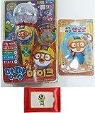 Pororo Petty Microphone Shape Toy & Walking Pororo Doll Set Various Sounds & Shine+Sinbi Tissue