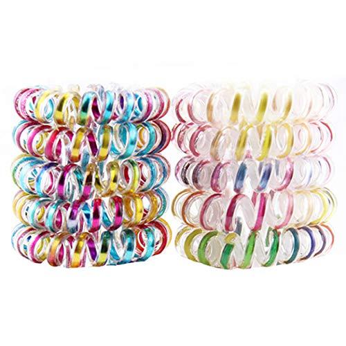 Kapmore Scrunchies fluwelen haarelastiekjes 10 stuks haarspoel spiraal mode haar elastische haarelastiek haarring paardenstaart houder