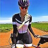 Damen Langarm Radfahrenanzug Strumpfhosen Jumpsuit Sweatshirt Badeanzug Triathlon (Color : 115 1, Size : Large 20mm)