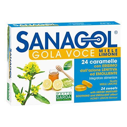 Sanagol Integratore Miele e Limone Gola Você, Multicolore, 24 Caramelle