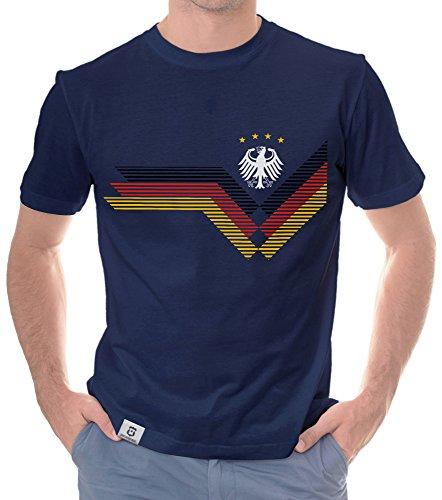 Herren T-Shirt - Deutschland WM dunkelblau-Weiss XXL