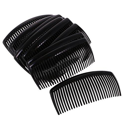 MagiDeal 12 Stk. Haarkamm Haarschmuck Haarclip 29 Zähne Einsteckkamm Mode Haar Zubehör - Schwarz