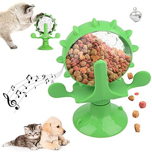 ZoneYan Giocattoli per Gatti Mulino a Vento, Giocattolo Interattivo per Gatti, Giradischi Mulino a Vento del Gatto, Giochi Interattivi per Gatti Cibo, Cat Windmill Toy, Gioco Rotante per Gatto