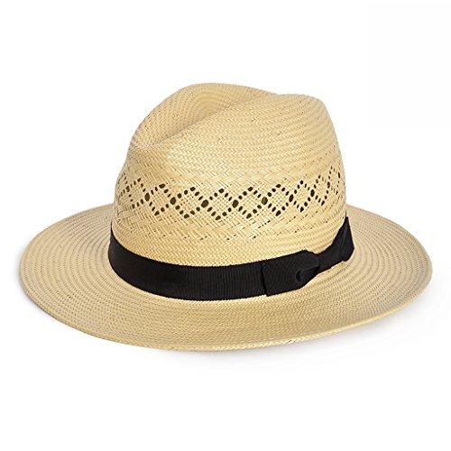 Chapeaux LINGZHIGAN Paille Femme Printemps Et Eté Hommes 2018 New Hat Herbe Fait à la Main Jazz Hat Sun Hat Mode (Couleur : Beige)