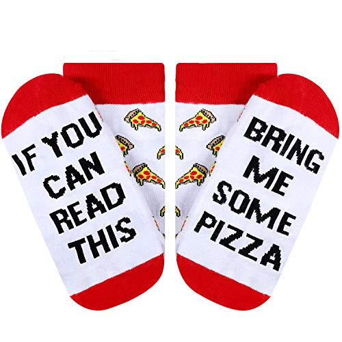 Moyel Pizza Socks Pizza Gifts For Women, If You Can Read This Socks, Funny