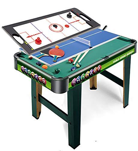 WLDOCA 3 in 1-2.5Ft Grün Billiardtisch + Air Hockey + Tennis Tischtennis, Spielzeug für Kinder Kinder & Familie Home Office Spielen