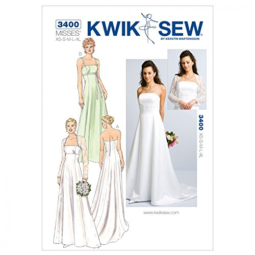 Kwik Sew Ladies Sewing Pattern 3400 - Bridal Wear (O/S)
