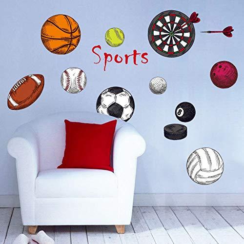 skwff Kinderkamer Slaapkamer Sport Darts Decoratieve Muurstickers Voetbal Basketbal Volleybal Cartoon Bal Muurstickers