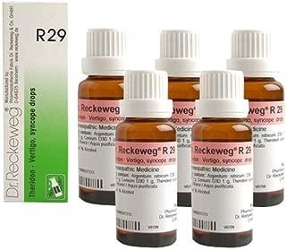 5 x Dr.Reckeweg-Germany R29- Vertigo, Syncope Drops (Pack of 5) EXPEDITED INTERNATIONAL DELIVERY