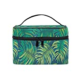 Borse per cosmetici Travel Makeup Cosmetic Bags Tropical Floral Pattern Vector Toiletry Bags Makeup Suitcase For Women Travel Daily Carry