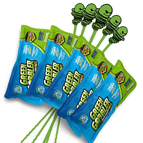 Green Gobbler Drain Opening PAC'S - 6.5 oz 5 Pack & 5 Hair Grabber Tools - Best Drain Cleaner, Opener, and Clog Remover