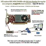 ATI Epic IT Service Radeon HD 3450 for Dual Monitor Setup (Full Size Bracket, DMS-59 to Dual VGA Adapter)
