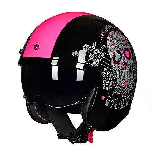 Casco jet para motocicleta, certificado por DOT/ECE, casco abierto para motocicleta,retro 3/4 medio casco ciclomotor Mofa gorra de choque,forro extraíble crucero helicóptero patineta D,4XL=63CM