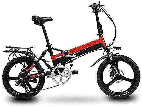 Bicicleta ectricida Plegable, Bicicleta Plegable Ligera y de Aluminio con Pedales Antideslizantes a Prueba de explosiones Batería de Litio Bike Aventura al Aire Libre, E BJY969