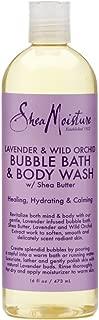 Shea Moisture Bubble Bath & Body Wash 16 Ounce Lavender & Wild Orchid (473ml) (3 Pack)