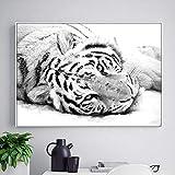 WCLGDJ Tier Tiger Poster und Druck Leinwand Malerei