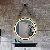 BDD Espejo Que Cuelga la Cuerda Redonda Arte Del Hierro Lámpara Led Tocador Colgante de Pared Baño Lámpara de Baño...